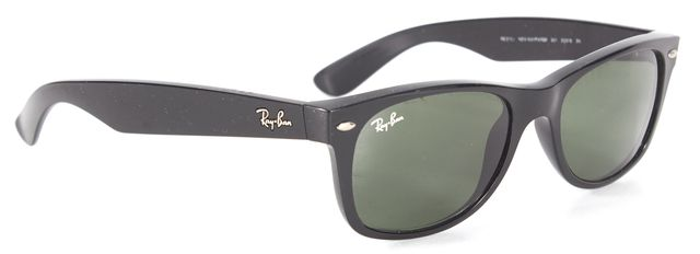 RAY-BAN Black Acetate Classic Wayfarer Sunglasses w/ Case