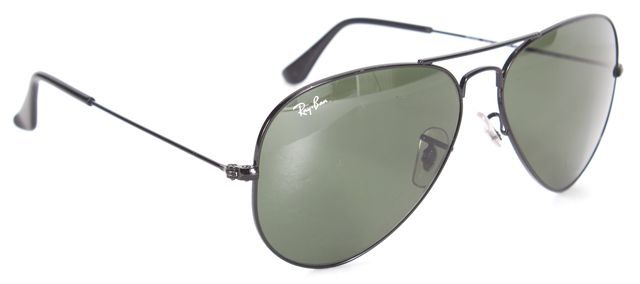 RAY-BAN Black Metal Frame Large Aviator Sunglasses