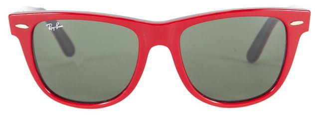 RAY-BAN Red Black Acetate Wayfarer Sunglasses w/ Case