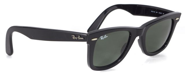 RAY-BAN Black Acetate Wayfarer Square Sunglasses w/ Case