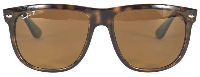 RAY-BAN Brown Rectangular Tortoise Acetate Frame Rectangle Polarized Sunglasses