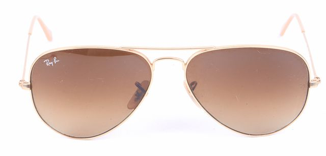 RAY-BAN Gold Brown Lens Aviator Sunglasses