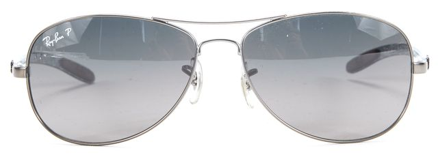RAY-BAN Black Metal Aviator Sunglasses w/ case & cleaning cloth