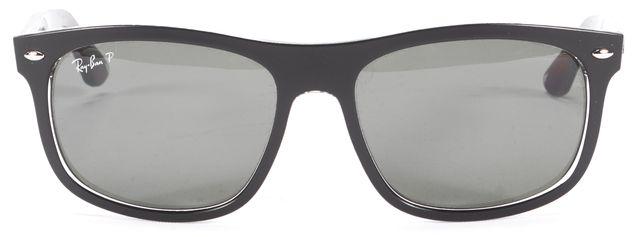 RAY-BAN Black Polarized Acetate Square Sunglasses