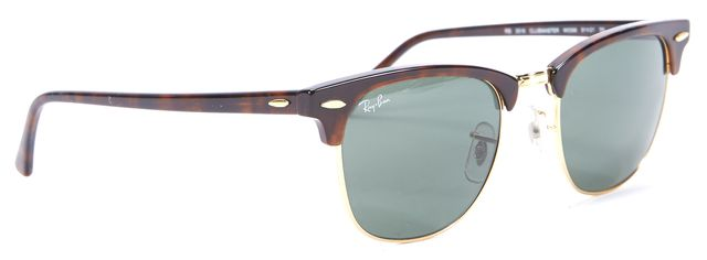 RAY-BAN Brown Gold Tone hardware Club Master Square Sunglasses