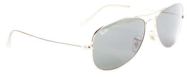 RAY-BAN Gold Metal Cockpit Aviator Sunglasses