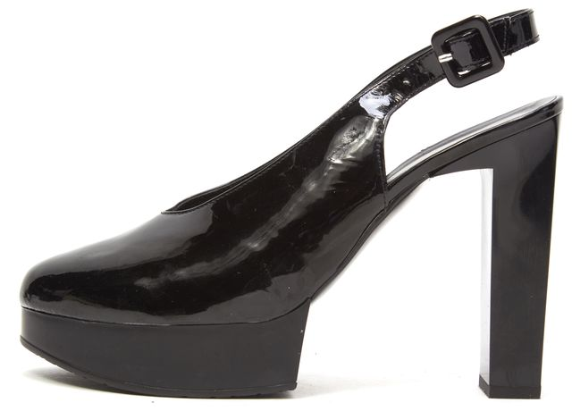 ROBERT CLERGERIE Black Patent Leather Platform Shoes
