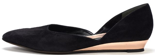 ROBERT CLERGERIE Black Suede d'Orsay Flats