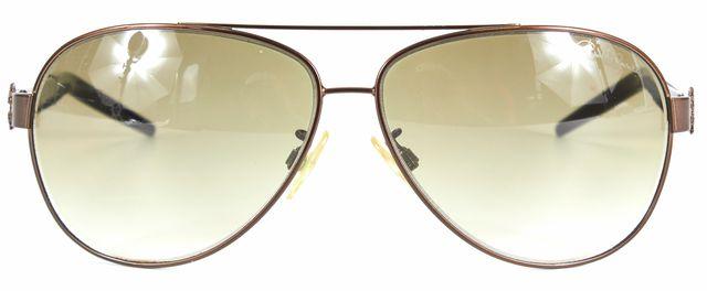 ROBERTO CAVALLI Brown Metal Aviator Gradient Lens Prehnite Sunglasses