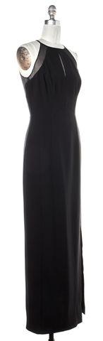 REISS Black Semi Sheer Ball Gown Dress