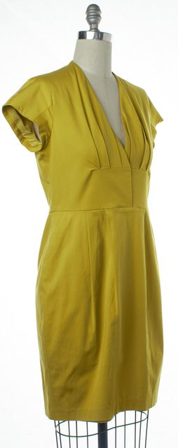 REISS Yellow Sheath Dress