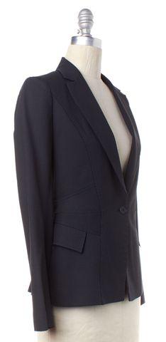 REISS Navy White Pinstripe Blazer Jacket