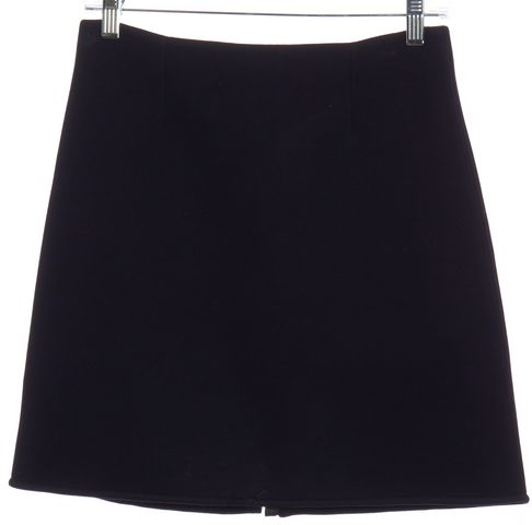 REISS Navy Blue Front Zip A-Line Mini Skirt