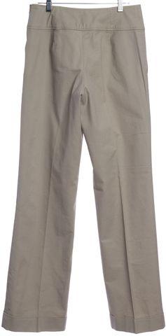 REISS Beige Wide Leg Cuffed Pleated Trousers Pants