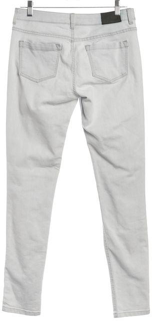 REISS Light Gray Mid Rise Patti Smith Skinny Jeans