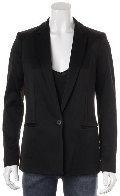 REISS Black Single Button Indi Jacket Blazer