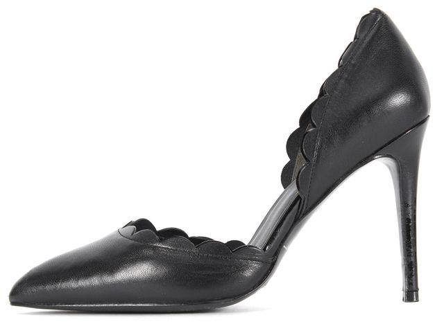 REISS Black Scallop d'Orsay High Heels