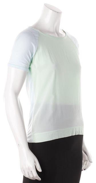 REISS Light Blue Mint Silk Panel T-Shirt