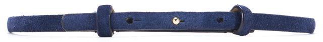 REISS Navy Blue Suede Pescale Skinny Hammered Belt