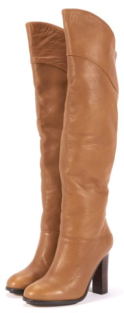 REISS Brown Leather Knee-high Boots