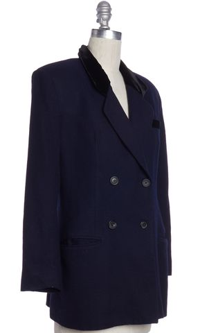 REFORMATION Navy Blue Double Breasted Jacket