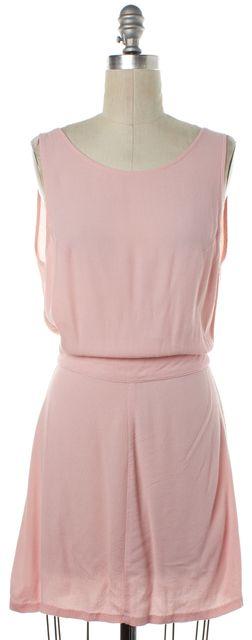 REFORMATION Pink Low Back Shift Dress