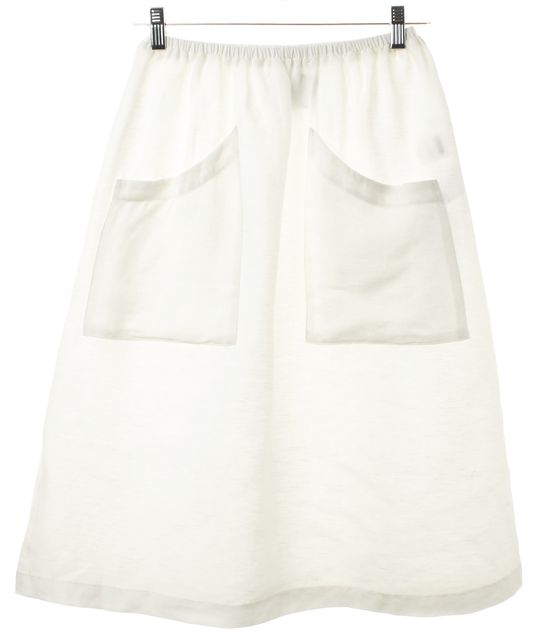 RED Valentino Ivory A-Line Skirt   Material World