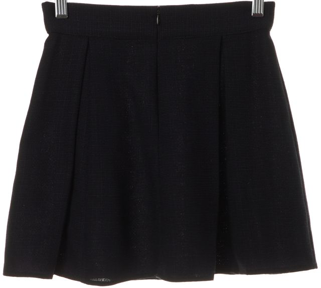 REFORMATION Navy Blue Pleated Skirt