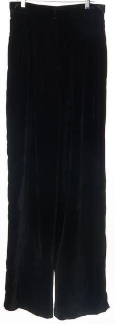 REFORMATION Black Velvet Trousers Pants