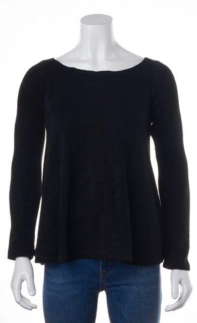 REFORMATION Black Boat Neck Sweater