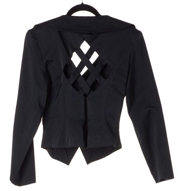 REFORMATION Black Back Cut-Out Blazer
