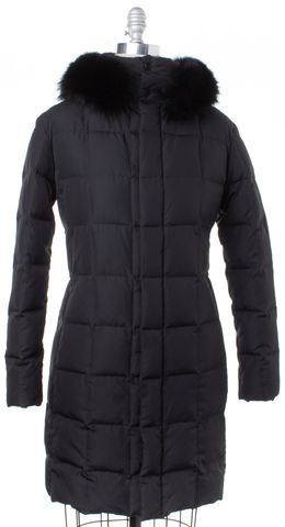 RALPH LAUREN BLACK LABEL Black Fur Hood Lining Goose Down Coat Fits Like a S
