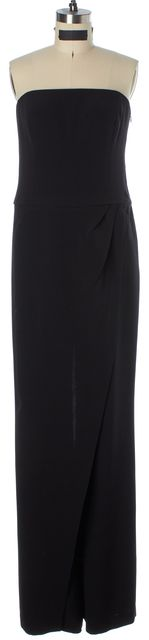 RALPH LAUREN BLACK LABEL Black Silk Strapless Jumpsuit