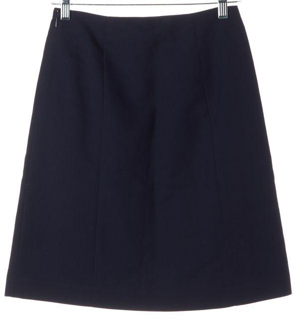 RALPH LAUREN BLACK LABEL Navy Blue Green Pocket Front A-Line Skirt
