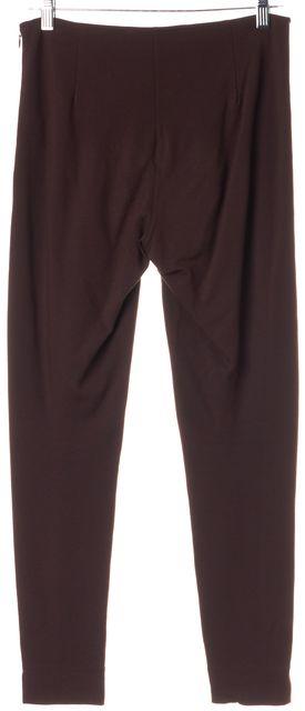 RALPH LAUREN BLACK LABEL Chestnut Brown Side Zip Leggings