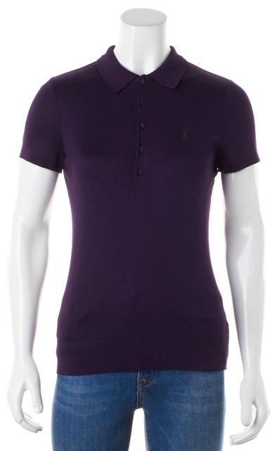 RALPH LAUREN BLACK LABEL Plum Purple Cotton Polo Shirt