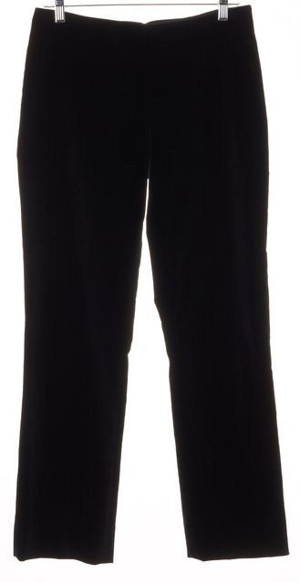 RALPH LAUREN BLACK LABEL Navy Blue Cotton Velvet Slim Trousers Dress Pants