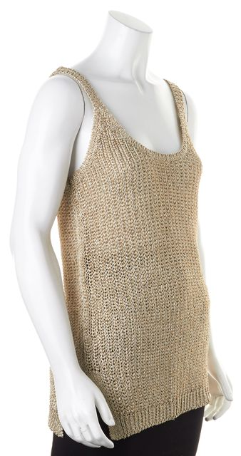 RALPH LAUREN BLACK LABEL Gold Knit Top