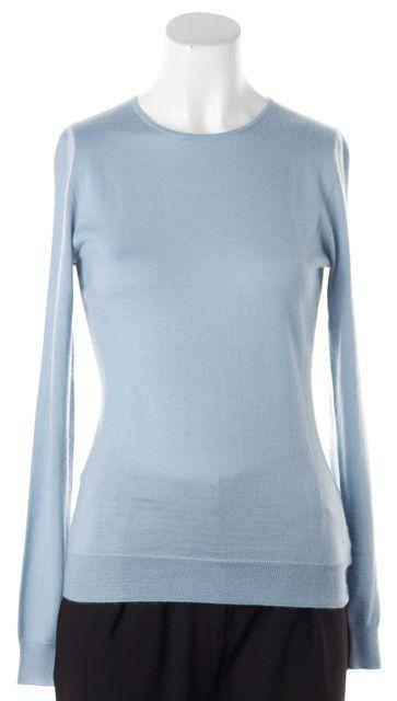 RALPH LAUREN BLACK LABEL Pale Blue Cashmere Thin Knit Top