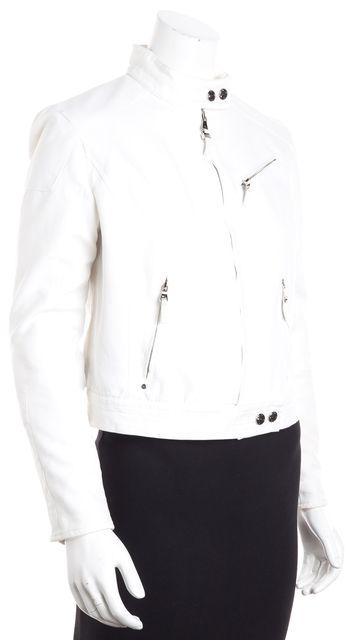 RALPH LAUREN BLACK LABEL White Motorcycle Jacket