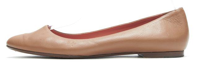 RALPH LAUREN COLLECTION Brown Leather Ballet Flats