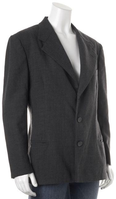 RALPH LAUREN COLLECTION Gray Wool Pocket Front Blazer