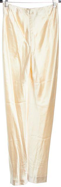 RALPH LAUREN COLLECTION Ivory Silk Dress Pants