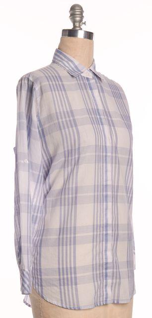 RAILS Blue White Plaid Cotton Button Down Shirt