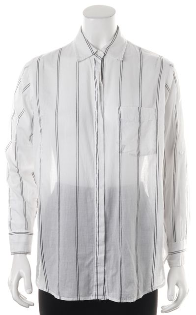 RAILS White Gray Striped Button Down Shirt Top