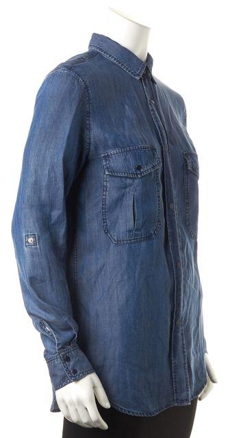 RAILS Denim Blue Button Down Shirt Top