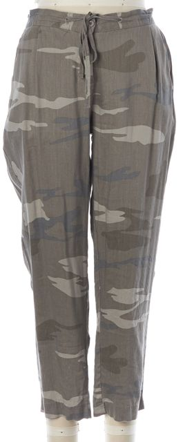 RAILS Green Camouflage Camo Drawstring Waist Cropped Pants