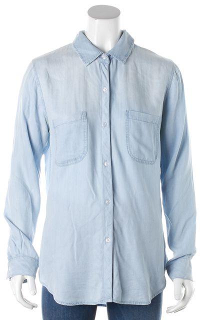 RAILS Blue Denim Button Down Shirt Top