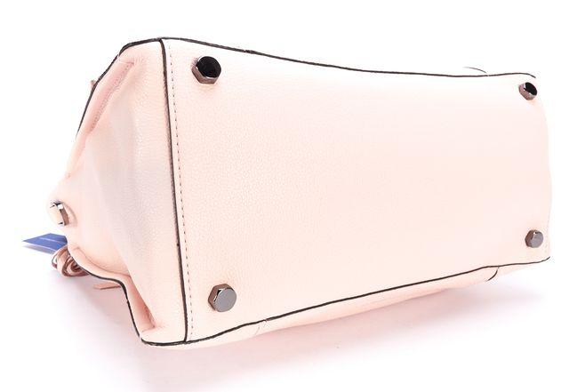 REBECCA MINKOFF Pink Leather Zip Pocket Front Regan Satchel Tote Handag