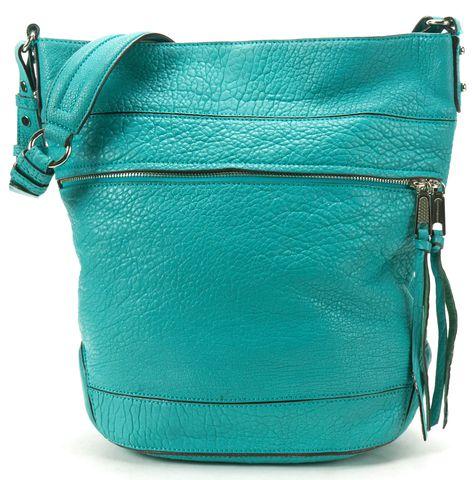 REBECCA MINKOFF Blue Pebbled Leather Shoulder Bag